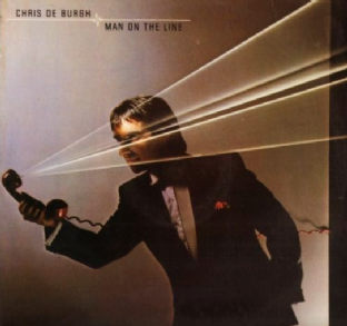 Chris De Burgh - Man On The Line (LP) (EX/EX-)